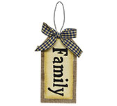 Family Tag Ornament