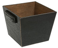 Wood Black Container w/Handles