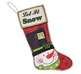 *Let It Snow Stocking Plaque