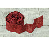 Red Glitter Burlap Ribbon