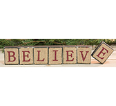 7/set, Believe Burlap Blocks