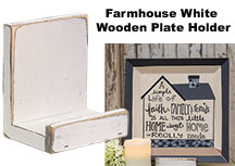 Farmhouse White Wooden Plate Holder