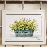 Farm House Bucket Framed Print