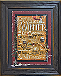 Winter Words Framed Print
