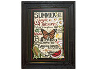 Framed Summer Words