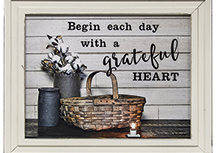 Begin Each Day Framed Print 16 by 12 inches