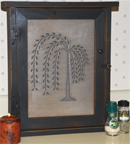 Burnished Willow Spice Cabinet