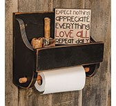 Black Wood Paper Towel Holder