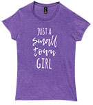 Small Town Girl T-Shirt, Purple, Large