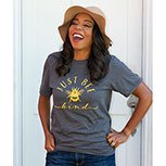 Just Bee Kind T-Shirt, Heather Dark Grey, Large