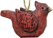 Carved Cardinal Ornament