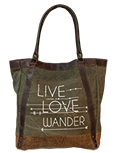 Live Love Wander Tote Bag
