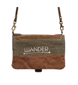 Live Love Wander Fold-Over Crossbody Purse