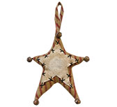 Folk Star Ornament, 5""
