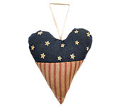 Americana Heart Ornament