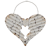 Whitewash Wing Heart Ornament