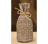 Seagrass Glass Bottle - 8\