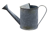 Galvanized Watering Can, Large