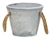 Medium Cement Planter With Jute Handles