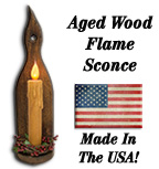 *Aged Flame Sconce