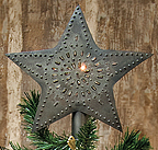 Tin Star Tree Topper, Large