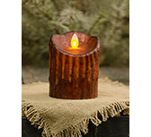 Mustard Flicker Pillar, 4""