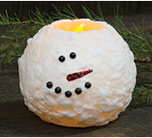 "5"" Snowman Round LED Candle"
