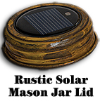 Rustic LED Solar Light Lid