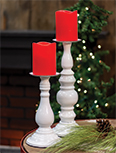 White Pedestal Pillar Holder, 13\