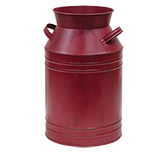 Burgundy Milk Can - 13""