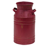 Burgundy Milk Can - 11""