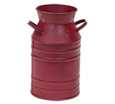 Burgundy Milk Can - 7""