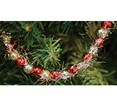 Red & Gold Bead Garland