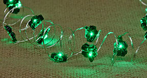 Green Shamrock Lights - 20ct