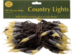Silicone Lights, Brown Cord, 100ct