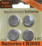 4/Pkg, CR2032 Batteries