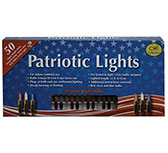 Patriotic Lights, Brown Cord 50 ct.