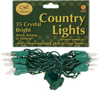 Light Set, Green Cord, 35ct