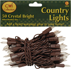 Light Set, Brown Cord, 50ct