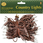 Light Set, Brown Cord, 100ct