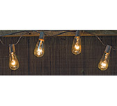 Edison Light Strand, Brown Cord, 10ct