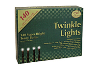 Twinkle Lights, Brown Cord, 140 ct