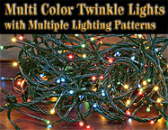 Multicolor Twinkle Lights, 140 Ct