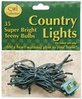 Teeny Lights,  Green Cord, 35ct