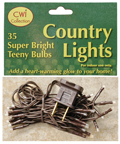 Teeny Lights, Brown Cord, 35ct