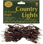 Light Set, Brown Cord, 35ct