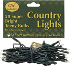 Teeny Lights, Green Cord, 20ct