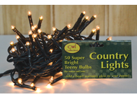 Teeny Lights, Green Cord, 50ct