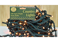 Teeny Lights, Green Cord, 100ct
