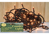 Teeny Lights,  Brown Cord, 100ct